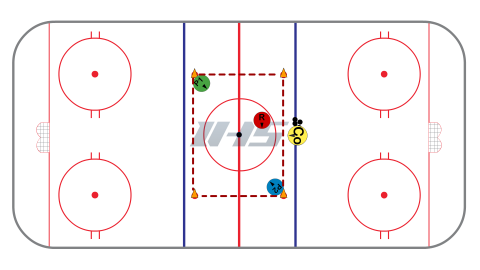 Give & Go Rover - Small Area Hockey Game