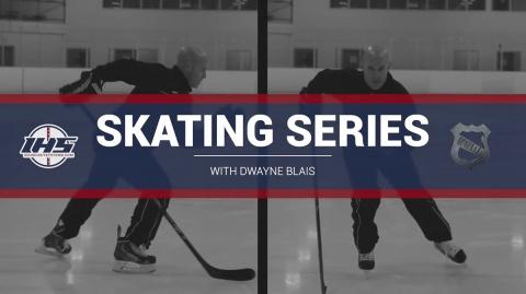Ice hockey skating series with Dwayne Blais