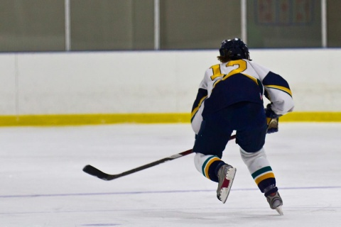 Hockey Player Doing a Racing Drill