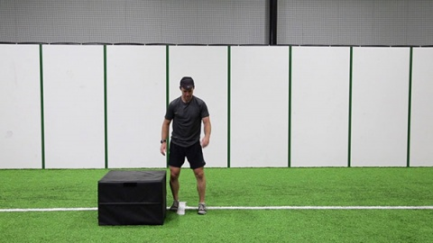 Medial Single Leg Box Hops