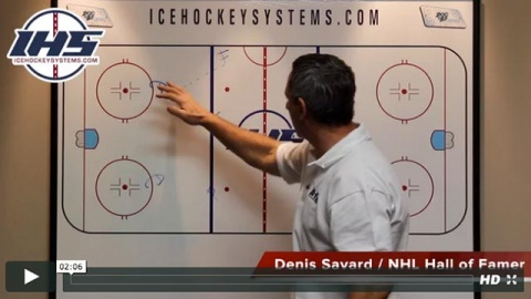 Denis Savard Explains a Neutral Zone Regroup with Three Options