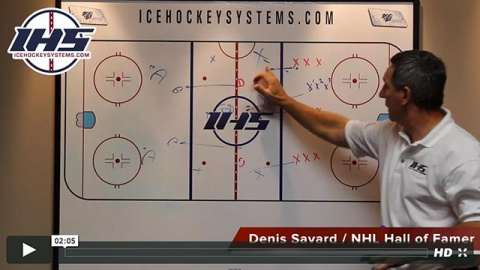 Denis Savard explains the regroup to backcheck drill