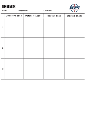 Ice Hockey Turnover Chart