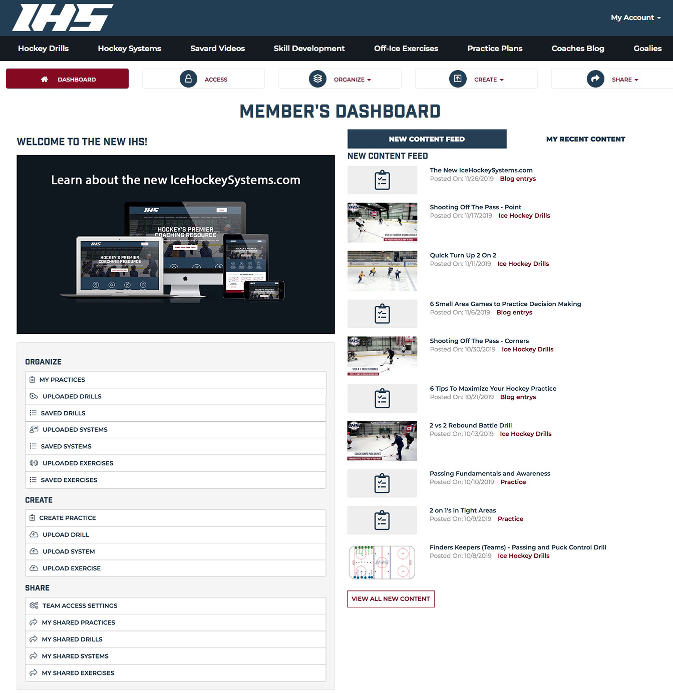 Ice Hockey Systems Dashboard